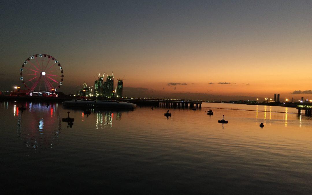 Musica e giuochi d'acqua a Dubai