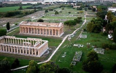 La Pricipessa Dana Firas Presidente dell'associazione Nazionale per la consevazione del sito di Petra, parla di Paestum.