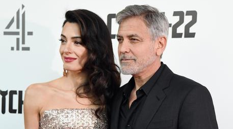جورج كلوني وزوجته