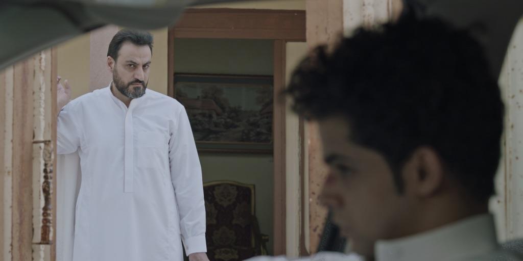 مشهد من فيلم «آخر زيارة » لعبدالمحسن الضبعان