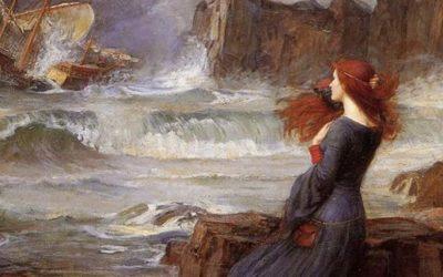 «ميراندا والعاصفة» لوحة أنجزها الفنان الانجليزي جون ووترهاوس في 1916