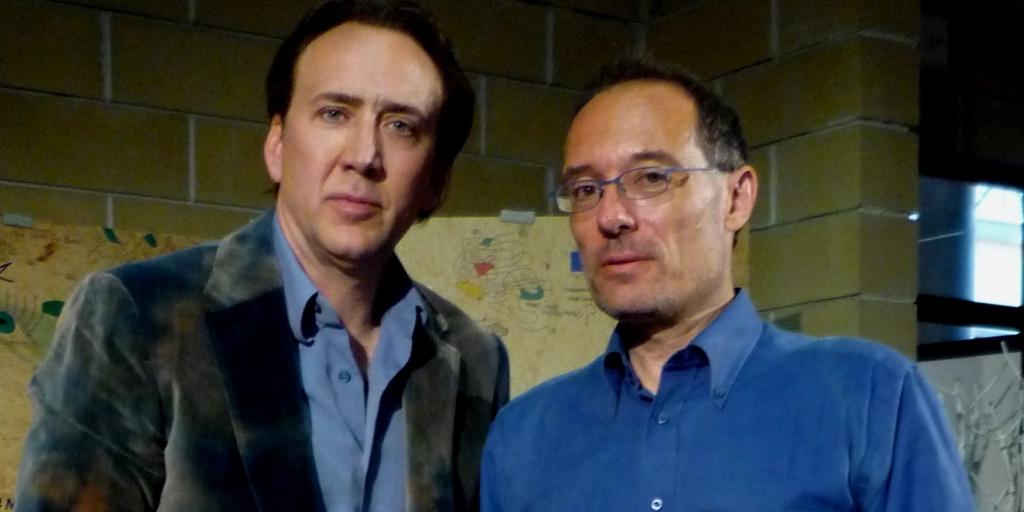Il Critico Giovanni Bogani Con Nicolas Cage00