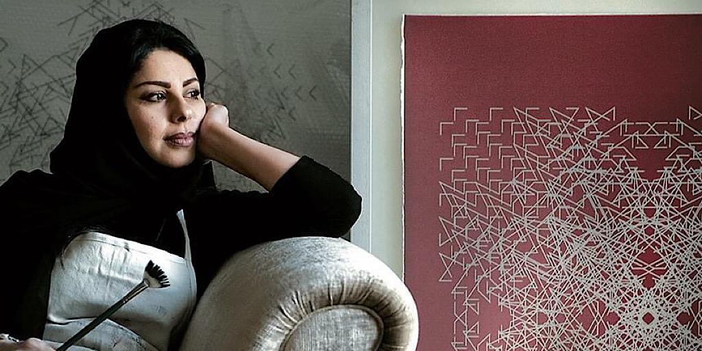 """التشكيلية المعاصرة لولوة الحمود: """"الهندسة وسيط حرَّ وشاسع للتعبيرالمفاهيمي"""""""