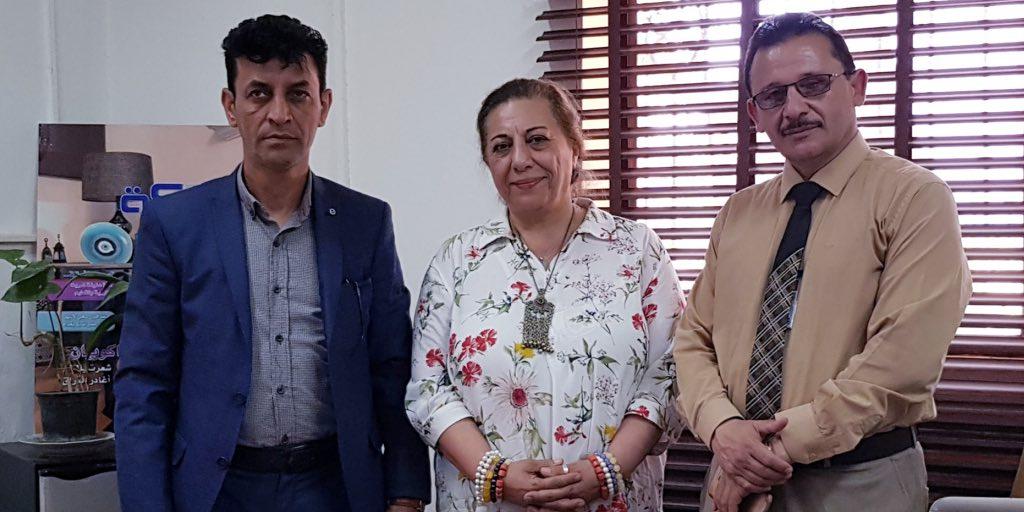 نرمين المفتي رئيسة تحرير مجلة الشبكة العراقية